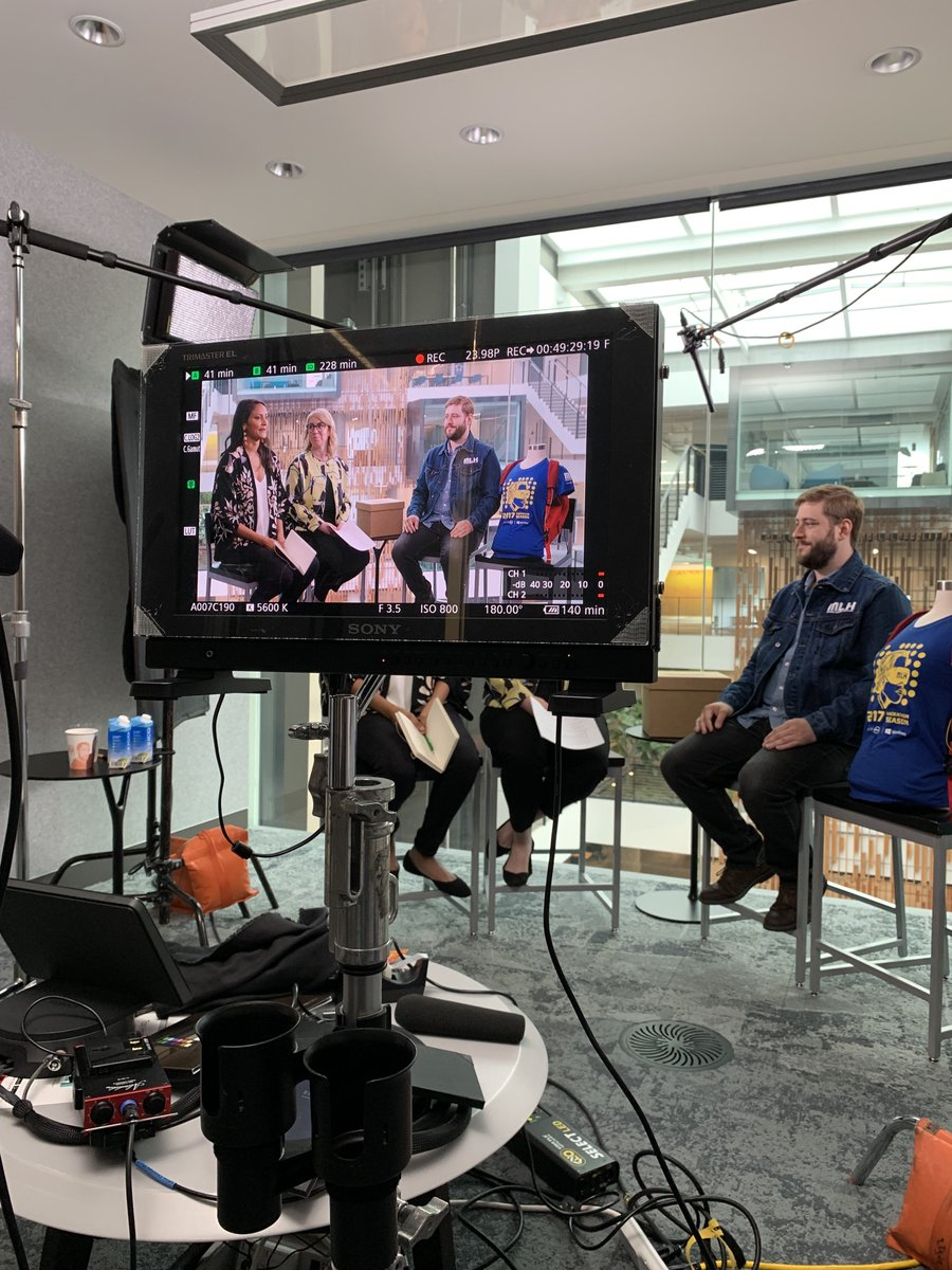 Big things coming tomorrow morning: our cofounder @jonmarkgo will be chatting about hackathons and hacker culture with @colleenobrien and @sonia_dara from @Microsoft on the next episode of #MicrosoftUnboxed