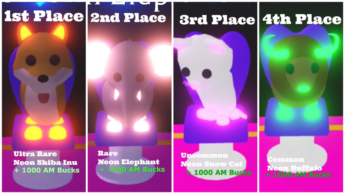 Candy On Twitter Neon Pets Giveaway For This Giveaway I Ll Be Giving Away 4 Neon Pets 4 000 Am Bucks In Total How To Enter 1 Follow Me 3