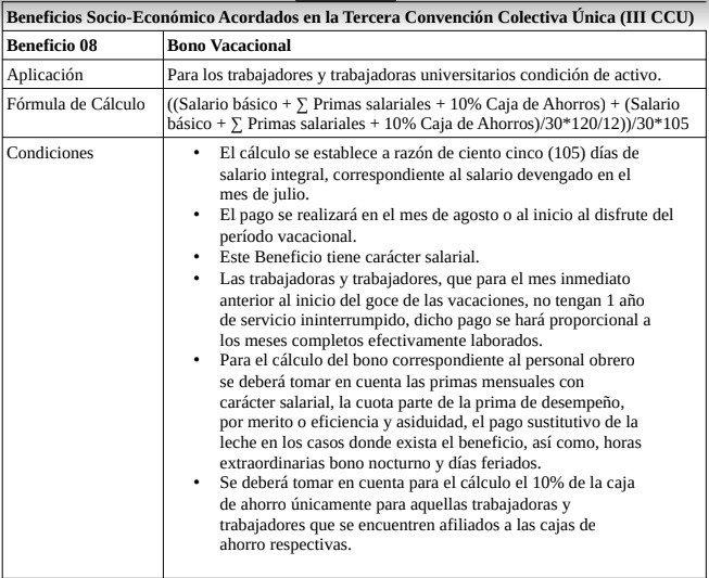 ¡IMPORTANTE!: ACLARATORIA SOBRE EL BONO VACACIONAL: La @UCarabobo cancelará en el transcurso del JUEVES 18 DE JULIO el BONO VACACIONAL con el SUELDO DEVENGADO AL 15 DE JULIO. (Tabla vigente a partir de 16 de abril de 2019). El pago se realizará COMPLETO y EN UNA SOLA PORCIÓN.