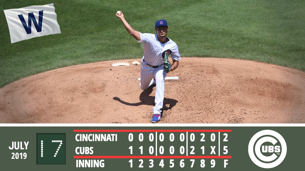 Darvish tosses 6 shutout innings to lead #Cubs to series win. Recap: atmlb.com/2SlF5rO #EverybodyIn
