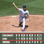 Image for the Tweet beginning: Darvish tosses 6 shutout innings
