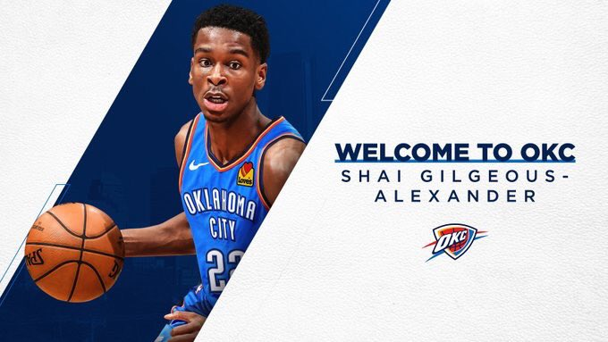 Just want to take a moment to thank the Clippers organization for making my first pro year one to remember! Huge special thanks to the great fans that supported me throughout my rookie season! But I'm excited to get going in OKC! #Thunderup   SGA