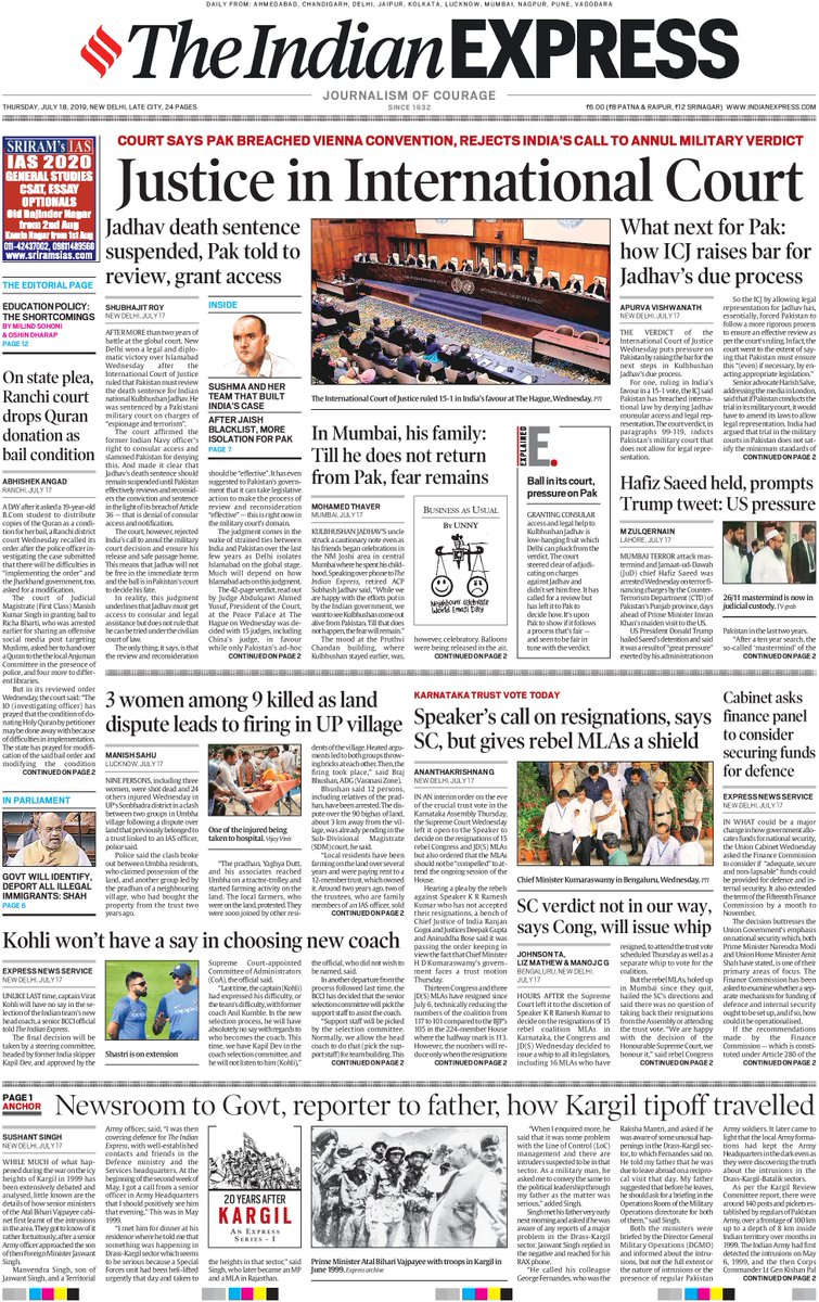 Good morning. This is #ExpressFrontPage for today. For more news visit bit.ly/10LYuw