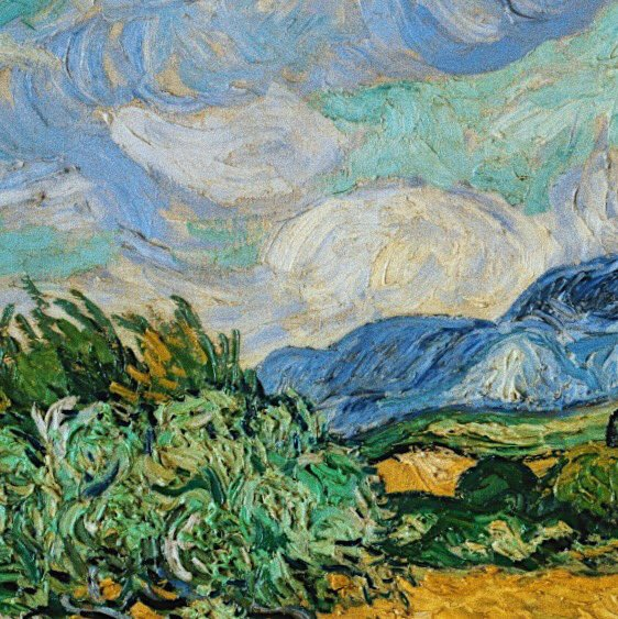 Details and brush strokes in the works of Vincent Van Gogh