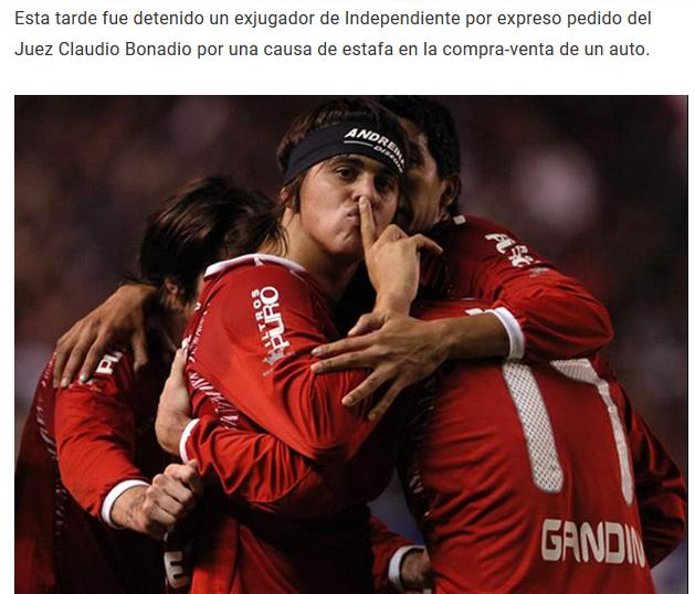 Detuvieron al ex Independiente, Leonel Nuñez por una causa de estafa en la compra-venta de un auto D_tgKrdXkAguZVJ