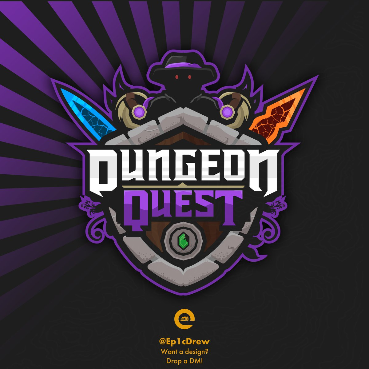 Dungeon Quest Roblox Download - Mai Credere Commission Logo For The Game Dungeon Quest