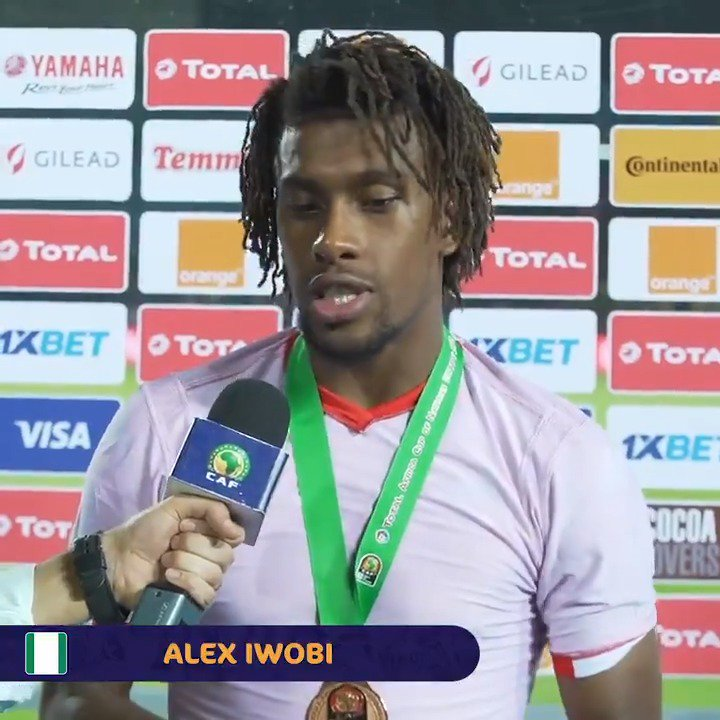 We spoke to an elated @alexiwobi after #TUNNGA 🎙️ #TotalAFCON2019