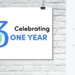 Image for the Tweet beginning: The 1 year celebration of