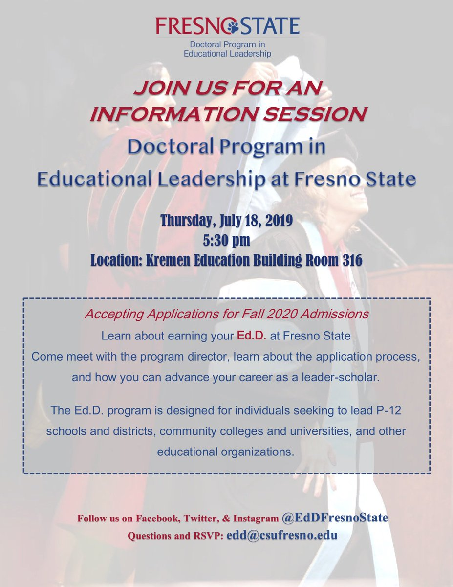 Fresno State Admissions >> Fresno State Ed D Program Eddfresnostate Twitter