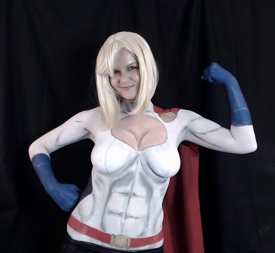 Powergirl nude bodypaint — pic 15