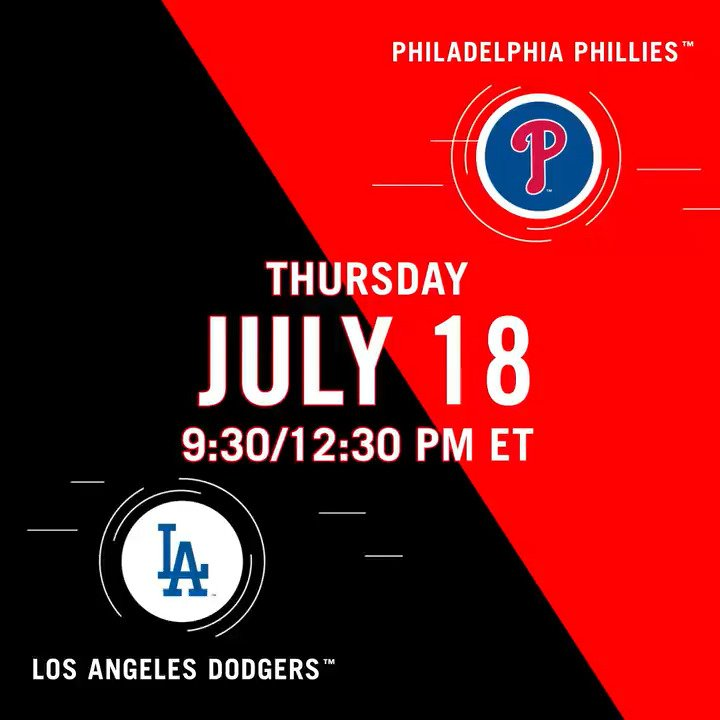 🚨 FREE BASEBALL 🚨  @Dodgers - @Phillies is live TODAY at 12:30 ET on @YouTube.  Watch here ➡️ http://atmlb.com/2Ltiol4