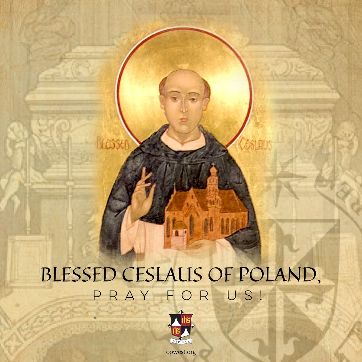 #BlCeslaus, OP (1180-1242) was born in Silesia to a noble family. Ordained a priest, he went to Rome in 1221 and met St Dominic who received him and St Hyacinth into the Order. He evangelized Eastern Europe, performed many miracles and helped establish the Province of Poland.