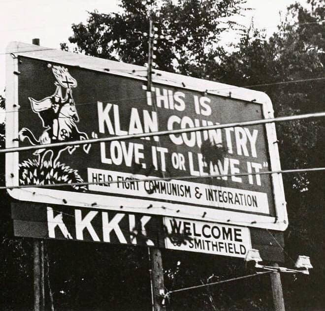 "When Trump says, If you don't like, it leave it,"" people I know say it reminds them of a sign like this from 1971 in NC county near where I live."