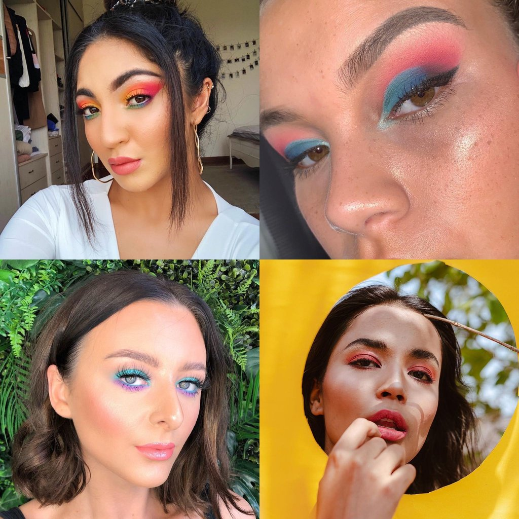 Searches for neon eye makeup are up 280% this summer👀. What's your mood today?🔢  📸:edinablends, felicia__beauty, http://antoniapatricia.makeup, ridgefernandes via IG