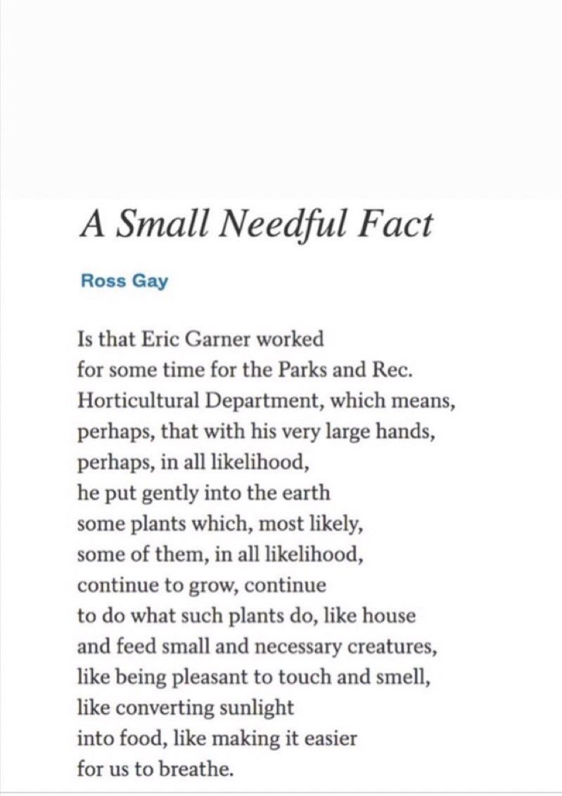 A Small Needful Fact, by Ross Gay