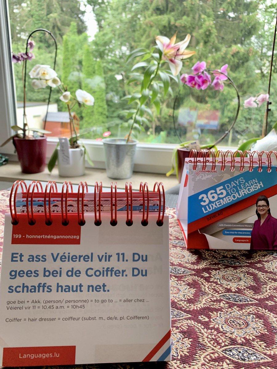 Et ass Véierel vir 11. Du gees bei de Coiffer.   #Luxembourgish #learnLuxembourgish  Learn w #teachyourself #learningmaterials   http://Languages.lu: 26478503, info@languages.lu  #365daysLuxembourgish #languageschool  #languagelearning #learningluxembourgish #learningisfun