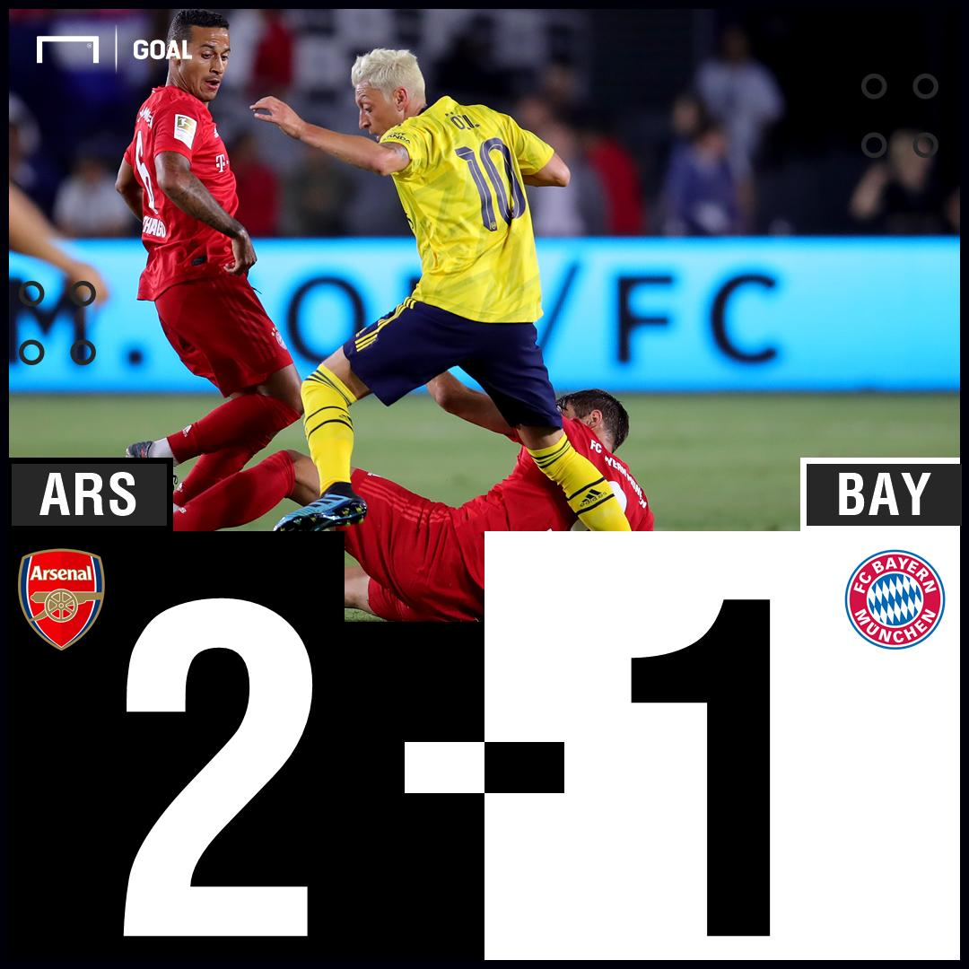 Eddie Nketiah scores a late winner as @Arsenal takes down @FCBayernEN in the @IntChampionsCup 💪