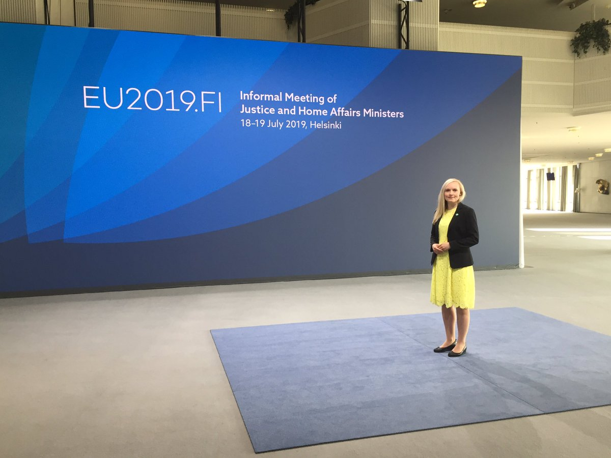 Ready to welcome the home affairs ministers and the commissioners in the Informal Council Meeting of Justice and Home Affairs Ministers in #Helsinki. Looking forward to today's discussions! #EU2019FI