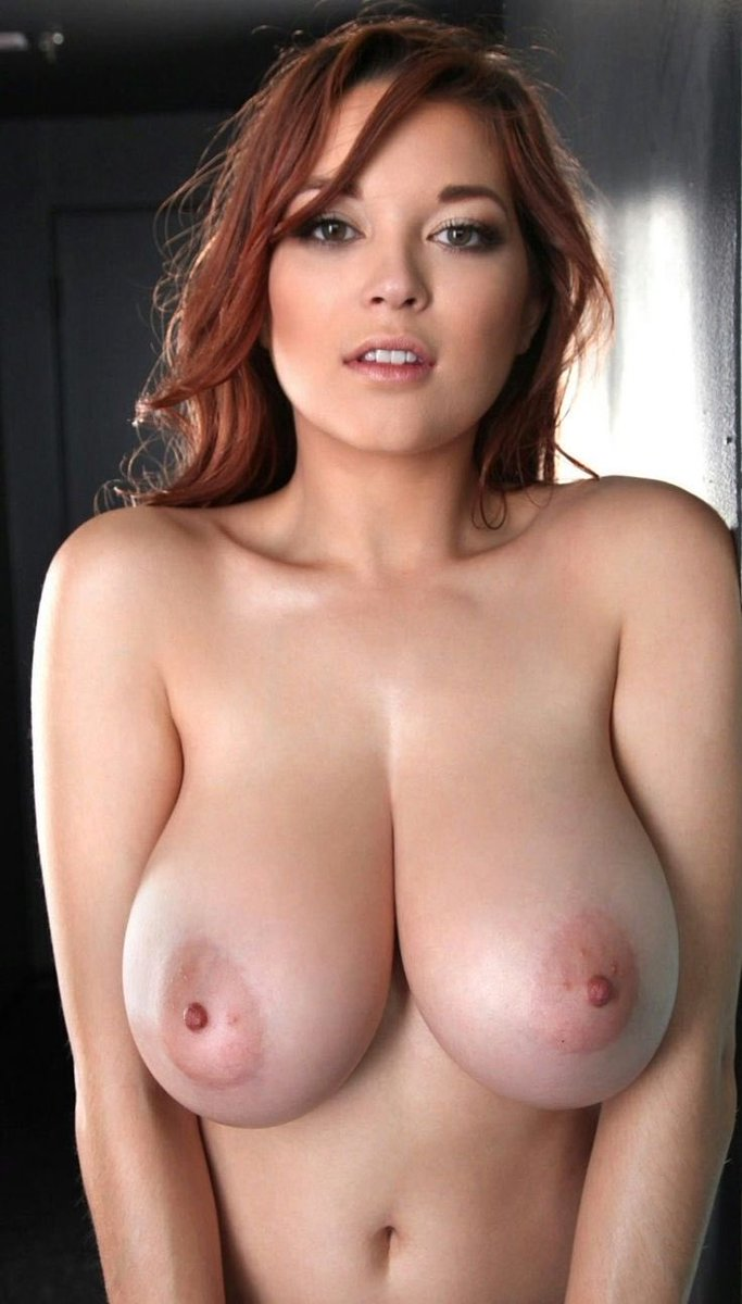 Nude tight rounded big boob