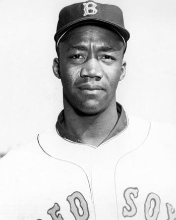"""RIP Elijah """"Pumpsie"""" Green, 85, who broke the color barrier in 1959 with the Boston @RedSox — they were the last @MLB team to integrate their roster, 12 years after Jackie Robinson's debut. Read our #SABR bio of baseball's """"reluctant pioneer"""":  https:// sabr.org/bioproj/person /f9472d8a  … <br>http://pic.twitter.com/2TkNPFyOtG"""
