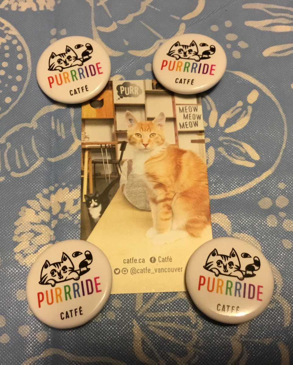 Look what the lovely folks at @catfe_vancouver sent me, purrfect for my lanyard! I hope I get to Vancouver year after next, because it will definitely be a stop on my itinerary. Thanks so meowch! 😽