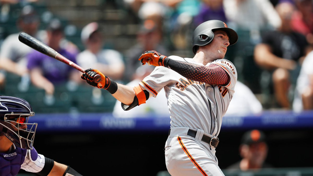 The Giants nearly optioned Mike Yastrzemski to Triple-A on Sunday.  But after a Coors Field series for the ages, Yaz is red hot and not looking back any time soon (via @PavlovicNBCS)  http://bit.ly/2XVdKhq