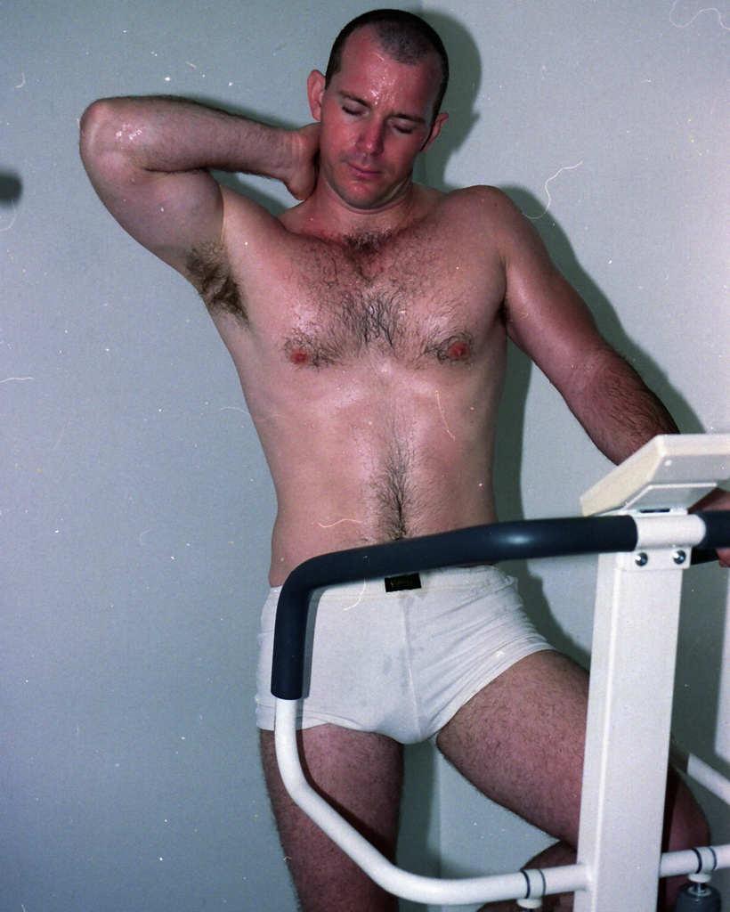 Sweaty naked jock boys