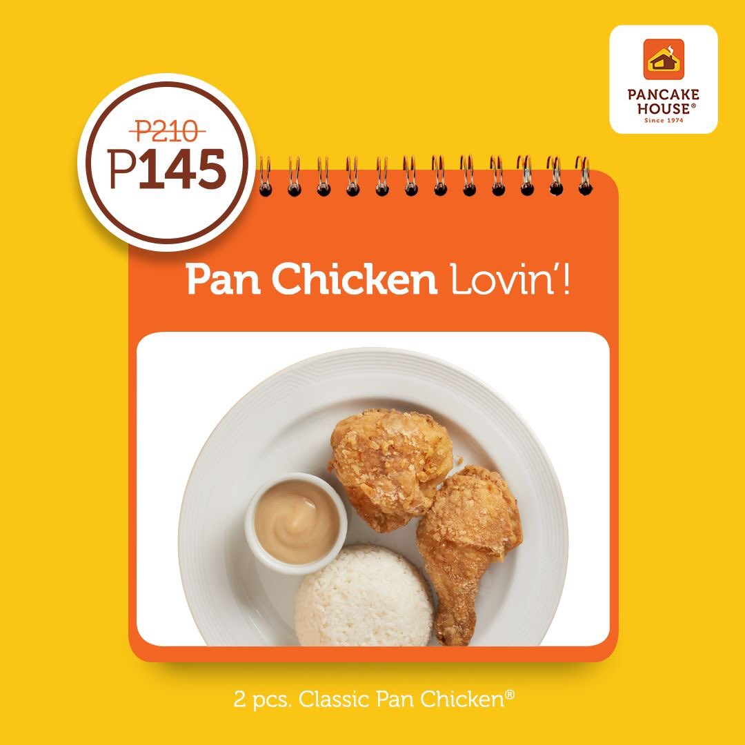 You know this is an irresistible treat! Save big on your Thurs-date with our famous 2pcs Pan Chicken for only P145. AVAILABLE TODAY ONLY! #ChooseToFeelGood with your family and friends now. https://t.co/AEau92iDW7
