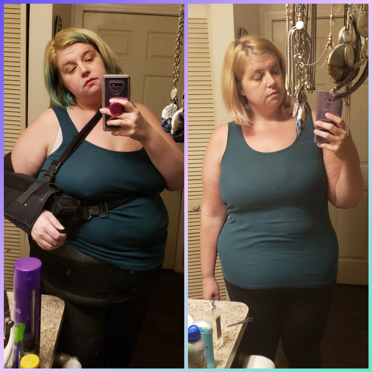 So I'm doing a really difficult thing and publicly posting a #progresspic of my current #weightlossjourney... 50 lbs gone in 6 months! I feel a lot less like a potato and more like a human.   Strangers of the internet, validate me.<br>http://pic.twitter.com/QnhxcLmIt1
