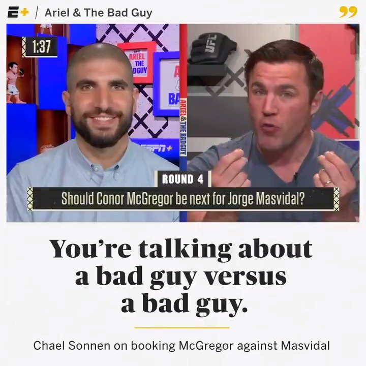 THE Bad Guy @ChaelSonnen on booking bad guys and the method to Dana White's madness when it comes to @TheNotoriousMMA and @GamebredFighter