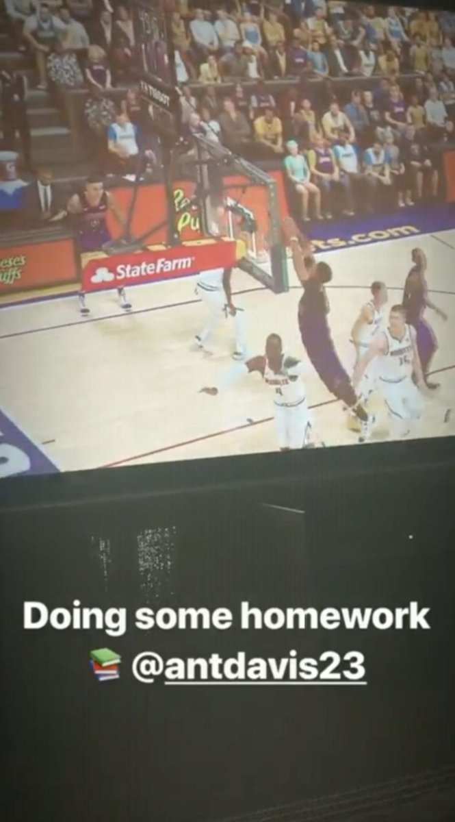 Bron getting in some early practice with Boogie and AD on 2K 🎮 (via @KingJames)