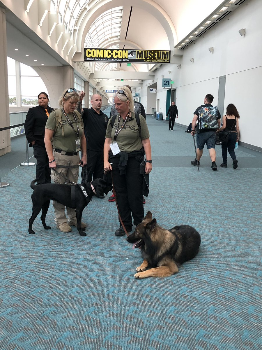Keeping @Comic_Con safe! #sdccdogs @SD_Comic_Con #sdcc #imworkinghere<br>http://pic.twitter.com/6Gn3RGiFDS