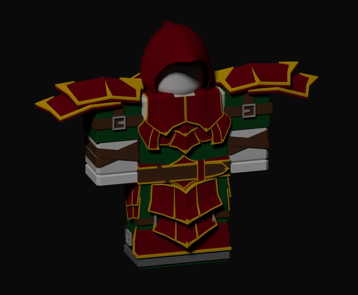Some armor I made for #DungeonQuest! Had a lot of fun making this for @vCaffy. He's honestly a pretty cool guy hahah  #Roblox #RobloxDev