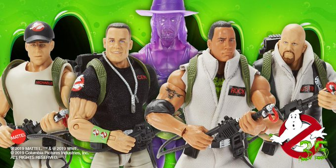 👻 @Mattel revealed its @WWE #Ghostbusters action figures today at #SDCC19 to commemorate the 35TH ANNIVERSARY of the original @Ghostbusters film!  Look out for them this fall, exclusively at @Walma