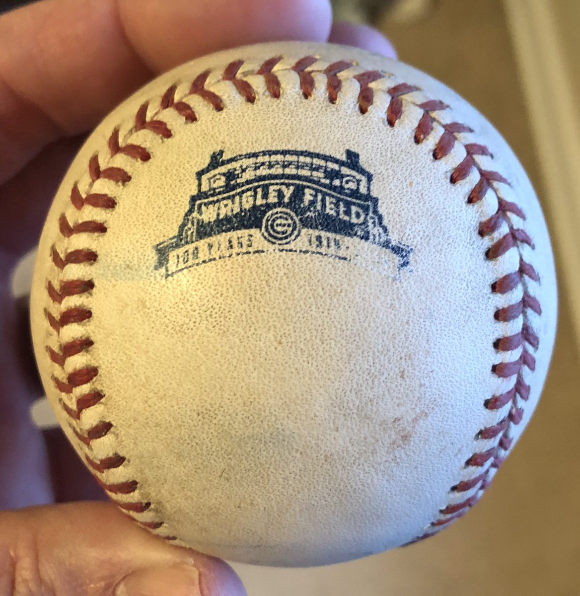 Looking forward to #johnbakerday 2019 and meeting @manbearwolf for the first time. I've been holding my #gameused ball from 7/29/14 forever. Should be fun! @SonRanto @mattsaltzman @GmanTavern