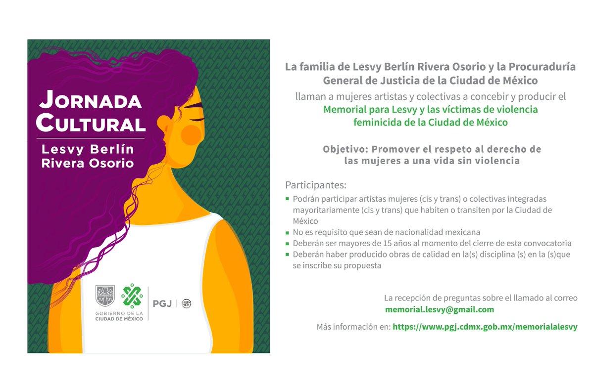 #JornadaCultural Memorial para Lesvy y las víctimas de violencia feminicida de la Ciudad de México @ErnestinaGodoy_ @CDHDF @Claudiashein @GobCDMX