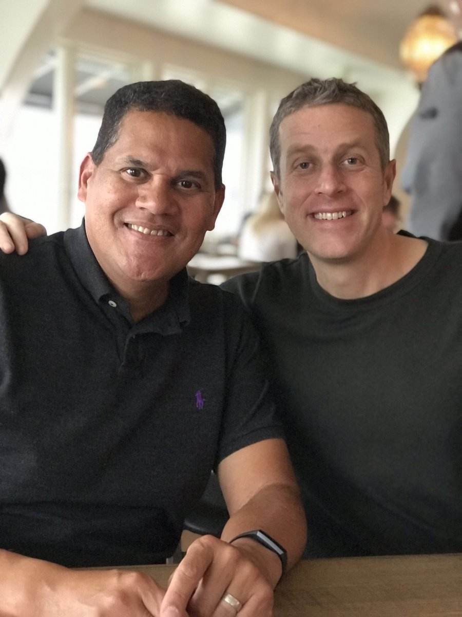 Great dinner and conversation with @geoffkeighley Making plans for world domination.