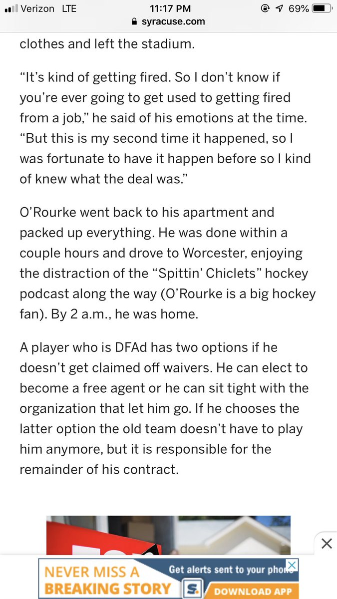 S/o to @spittinchiclets @RearAdBsBlog @BizNasty2point0 @ryanwhitney6 @MikeGrinnell_  on cheering up Ryan O Rourke after getting DFAd