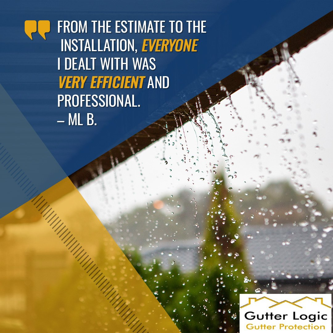 From the estimate to the installation, everyone I dealt with was very efficient and professional. Now I wont feel guilty for not cleaning out my gutters ever again! – ML B.