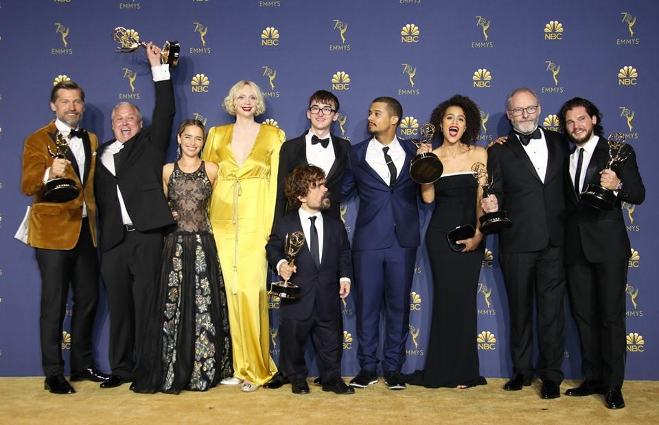 """That's right, 32 Emmy nominations await the """"Game of Thrones"""" cast at the 2019 Emmy Awards, bringing their grand total to a record-breaking 161. --> https://bit.ly/2FEoYRg  © Getty Images"""