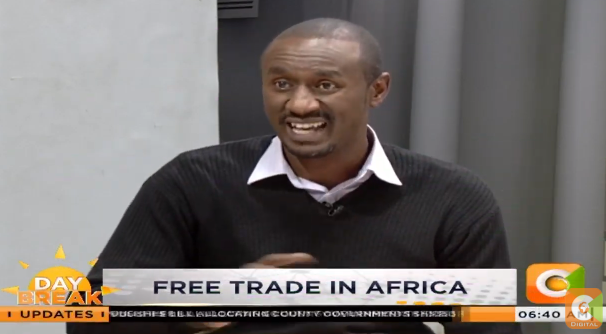 Caleb Karuga: 60% of the world's arable land is in Africa but Africa imports USD 35b worth of food from the west. Ideally, Africa should be feeding the rest of the world #DayBreak  @WaihigaMwaura  @Zindzi_K<br>http://pic.twitter.com/7hnO1S8p88