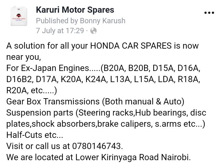 #TheHondaSpecialist All your Honda Car needs sorted in one place. @Ma3Route @Bonnykarush @Honda  #ThePowerOfDreams.