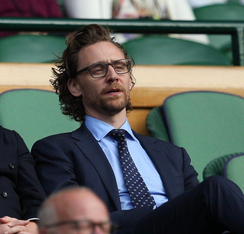 Tommy attend Ladies' Doubles Final at the Wimbledon 2019 Tennis Championships at All England Lawn Tennis and Croquet Club on July 14, 2019 in London, England. 😊❤️#TomHiddleston #Wimbledon