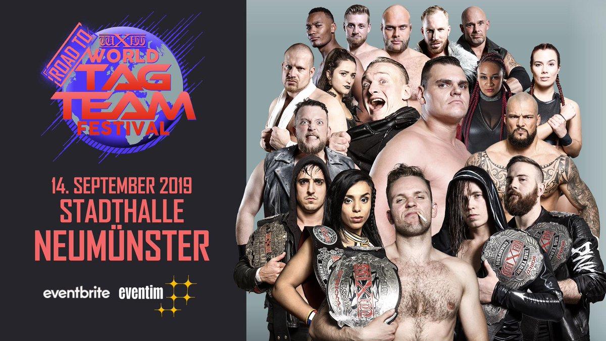 The very best wXw has to offer. @BobbyGunz28 @AmaleFrenchHope @DunkzillaDavis @KyleFletcherPro @EmilSitoci @WalterAUT @Unbesiegbar_Zar @Kelly_WP @Real_Valkyrie @MariusAl_Ani & many more confirmed for #wXwRoadtoWTTF Neumünster Sept 14th. Tickets: https://www.eventbrite.de/e/wxw-wrestling-road-to-world-tag-team-festival-2019-neumunster-tickets-54690079500…