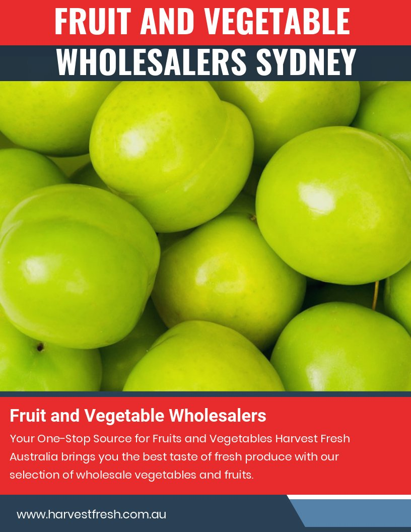 Fresh fruit and vegetable wholesalers in Sydney with many offers at https://t.co/TyQ3gY58V6  Find Us : https://t.co/yl6J8xIR5Z  One of the biggest problems while adding a sufficient quantity of fruits and vegetables in the diet is its high prices. https://t.co/pRMzSmDtad