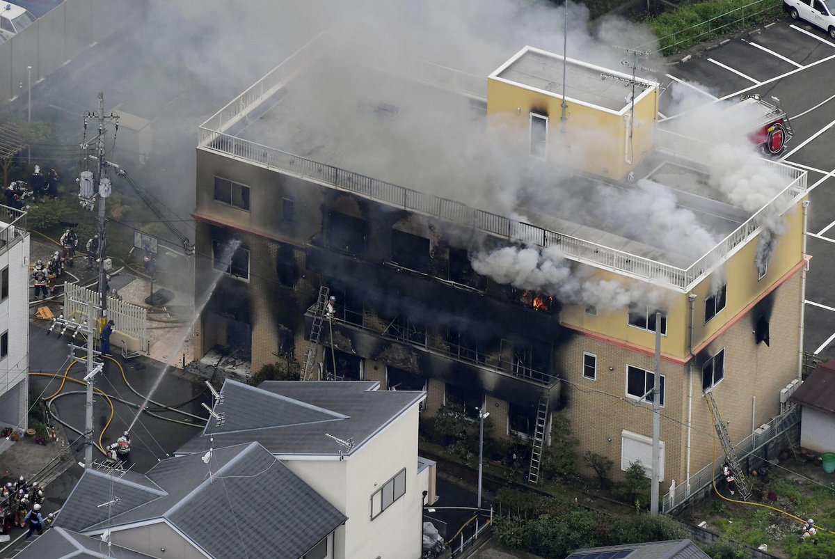 At least 13 dead, 40 injured after man sets fire to Kyoto anime studio https://japantoday.com/category/crime/At-least-13-dead-40-injured-after-man-sets-fire-to-Kyoto-anime-studio?utm_source=twitter&utm_medium=referral&utm_campaign=dlvr.it …