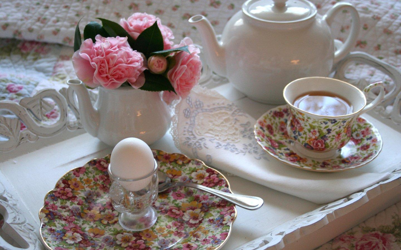 Для, открытки накрытый стол для утреннего чаепития и слова доброе утро