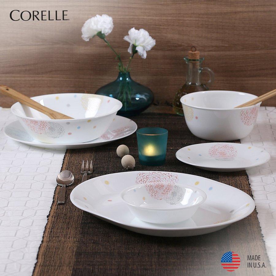 Corelle India on Twitter: Good cuisine deserves good dinnerware.  Pattern: Pom Pom  Buy now: