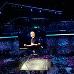 3rd day at #MSInspire ! Awesome corenote session where Satya Nadella, CEO Microsoft Corporation, shared his vision on market evolutions, and how technologies will support them. Great to hear about intelligent cloud, mixed reality, and the #Microsoft will to democratize #AI.