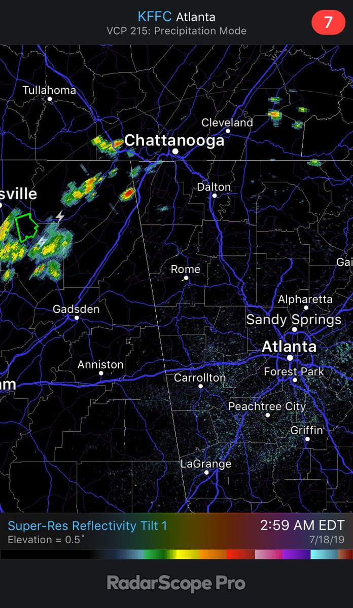 Gooooood morning! Watching some showers moving toward northwest Georgia now... and we'll have a chance if rain for the morning drive. See you at 430am on @wsbtv!